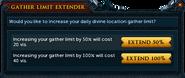 Gather Limit Extender interface