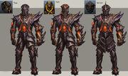 Obsidian armour concept art