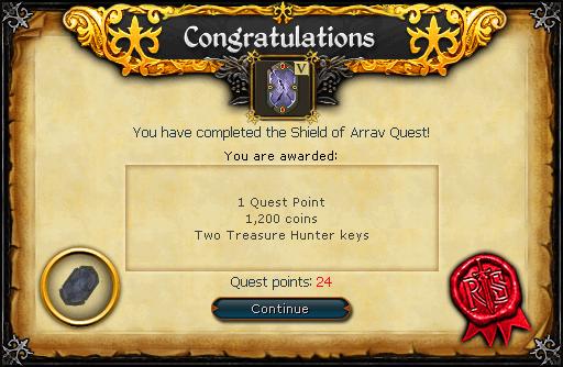 Shield of Arrav reward