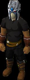 Reinforced slayer helmet equipped