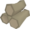 Eucalyptus pyre logs detail