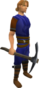 Primal pickaxe equipped