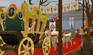 Queen's arrival