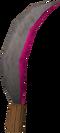 Red topaz machete detail