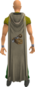 Hooded construction cape equipped