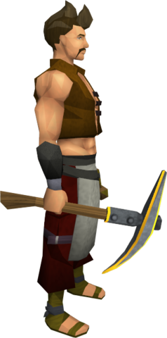 File:Gilded steel pickaxe equipped.png