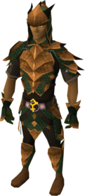 Bandos dragonhide blessed set equipped (male)