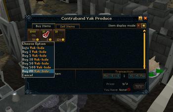 Buying yak hide