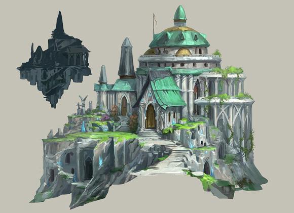 Elf City Hefin building concept art