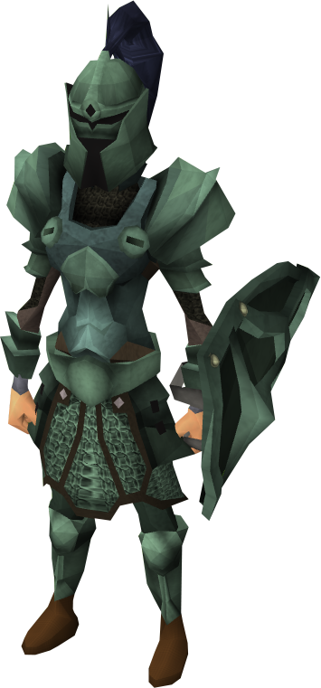 Adamant armour set (sk) equipped