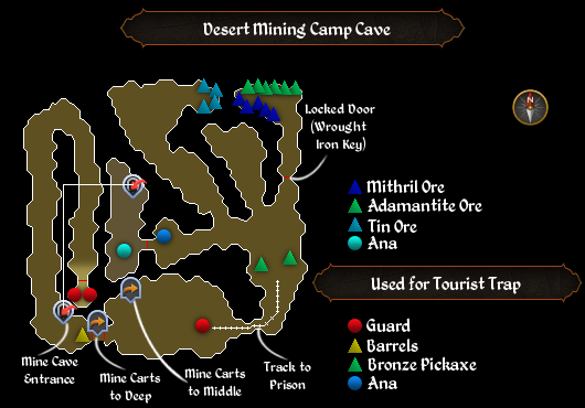 Desert Mining Camp Cave map