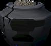 Cracked smelting urn (full) detail