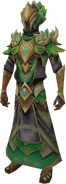 Elven mage outfit equipped