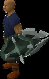 Adamant berserker shield equipped