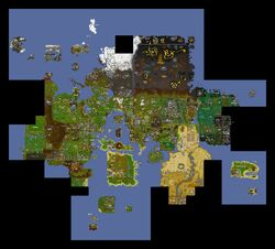 RuneScape World Map March 2007