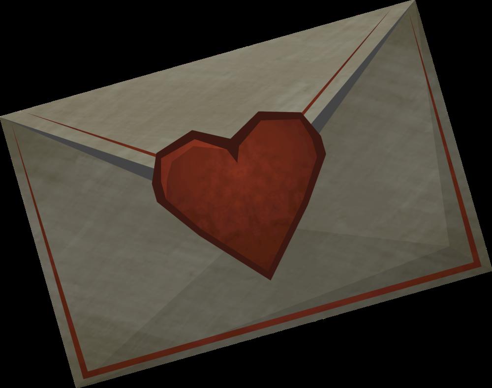 Valentine's note detail