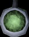 Jade amulet (unstrung) detail