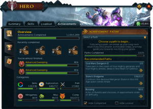 Hero (Achievements) interface