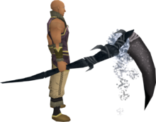 Noxious scythe (Third Age) equipped