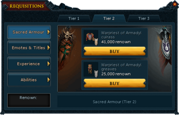 Requisitions Sacred Armour (Armadyl Tier 2)