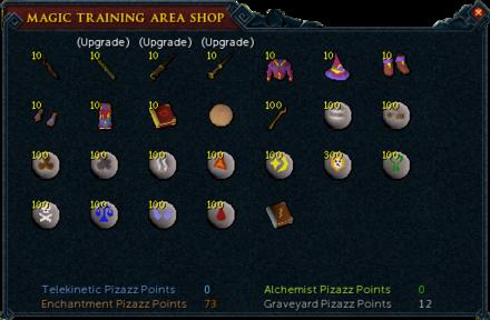 Magic Training Arena Shop