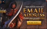 Register your Email popup