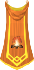 Firemaking master cape detail