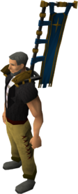 Saradominist banner equipped