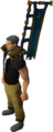 Saradominist banner equipped.png