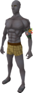 Giant mole grey skin equipped