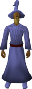 Blue robe set equipped