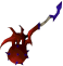 Superior off-hand dragon mace detail