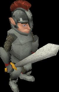 Gnome guard sword