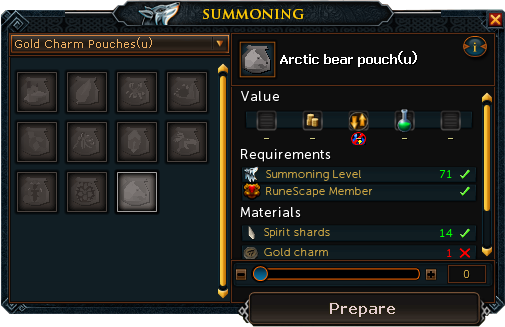 runescape crafting calc uncharged summoning pouch runescape wiki fandom 2858