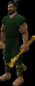 Diamond sceptre equipped