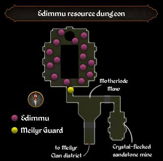 Edimmu resource dungeon map