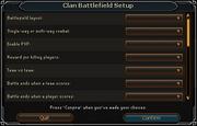 Clan Battlefield Setup interface