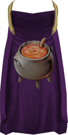Cooking cape detail