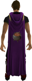 Hooded cooking cape equipped