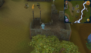 Compass clue Ardougne in ruins east of Observatory