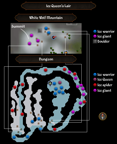 Ice Queen's Lair map