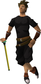 Golden cane equipped