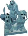 Cute baby animals ice sculpture