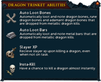 Dragon trinket abilities interface