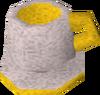 Porcelain cup (gold) detail