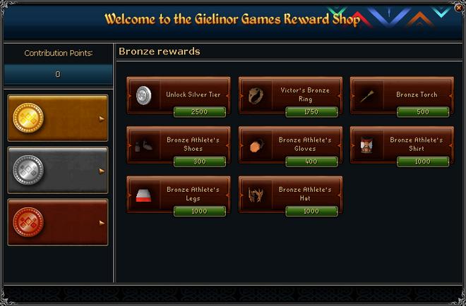 Gielinor Games Reward Shop (bronze) interface