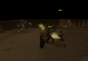 Fighting off the dragon-hunters