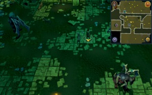 Scan clue Brimhaven Dungeon lower level north of Summoning obelisk