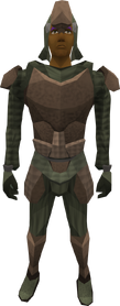 Subleather armour (male) equipped