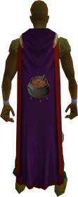 Hooded cooking cape (t) equipped